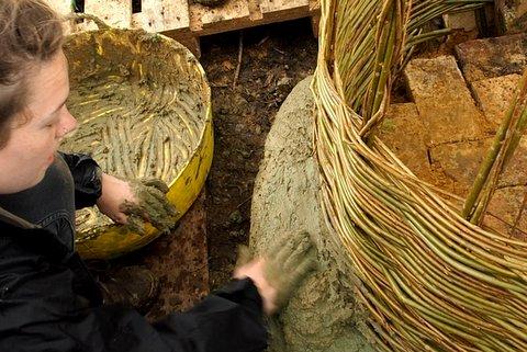 Cedar daubing