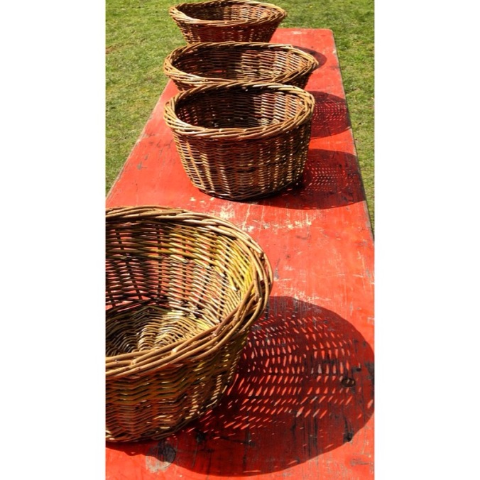 Finished baskets shadow