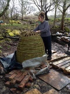 Til finishing the kiln weave