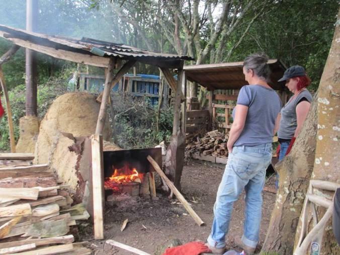 Willow Kiln firing in progress
